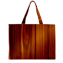 SHINY STRIATED PANEL Zipper Tiny Tote Bags
