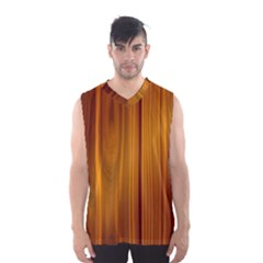 Shiny Striated Panel Men s Basketball Tank Top
