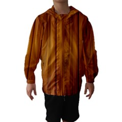 SHINY STRIATED PANEL Hooded Wind Breaker (Kids)