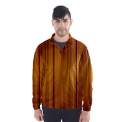 Shiny Striated Panel Wind Breaker (men)