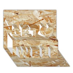 Osb Plywood Get Well 3d Greeting Card (7x5)