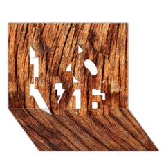 OLD BROWN WEATHERED WOOD LOVE 3D Greeting Card (7x5)