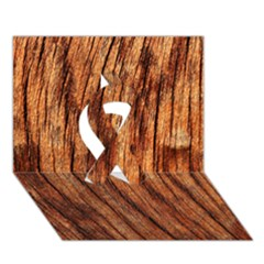 Old Brown Weathered Wood Ribbon 3d Greeting Card (7x5)