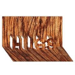 Old Brown Weathered Wood Hugs 3d Greeting Card (8x4)