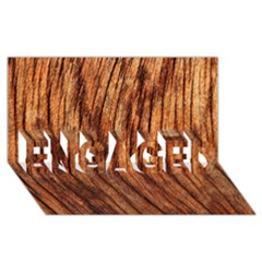 OLD BROWN WEATHERED WOOD ENGAGED 3D Greeting Card (8x4)