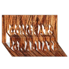 Old Brown Weathered Wood Congrats Graduate 3d Greeting Card (8x4)