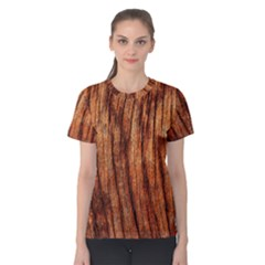 Old Brown Weathered Wood Women s Cotton Tee