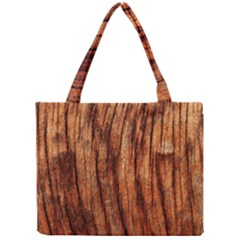 OLD BROWN WEATHERED WOOD Tiny Tote Bags