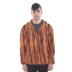 OLD BROWN WEATHERED WOOD Hooded Wind Breaker (Men)