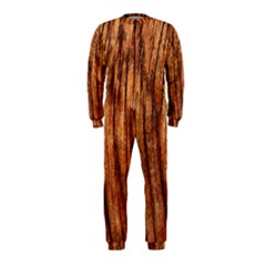 Old Brown Weathered Wood Onepiece Jumpsuit (kids)