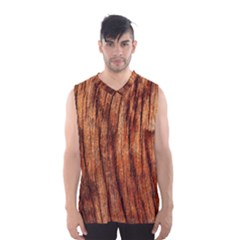 Old Brown Weathered Wood Men s Basketball Tank Top