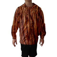 OLD BROWN WEATHERED WOOD Hooded Wind Breaker (Kids)