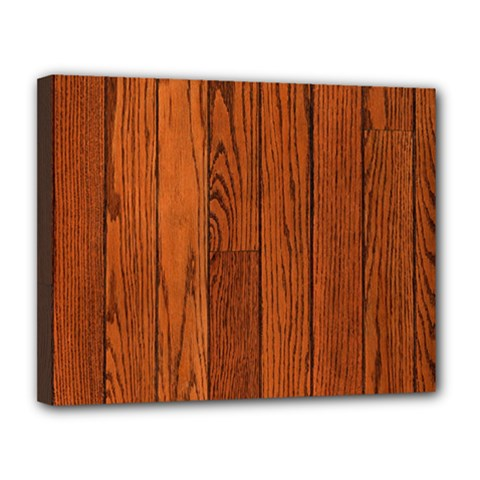 Oak Planks Canvas 14  X 11