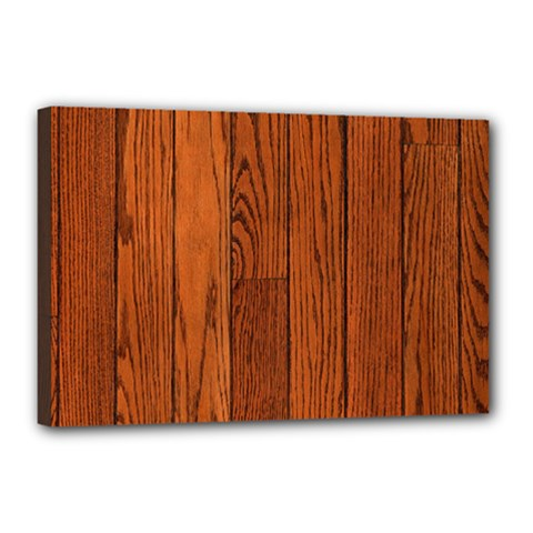 Oak Planks Canvas 18  X 12