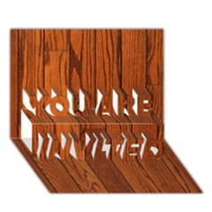 Oak Planks You Are Invited 3d Greeting Card (7x5)