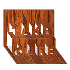 Oak Planks Take Care 3d Greeting Card (7x5)