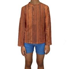 Oak Planks Kid s Long Sleeve Swimwear