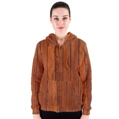 Oak Planks Women s Zipper Hoodies
