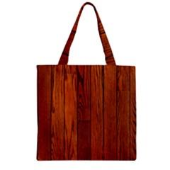 OAK PLANKS Zipper Grocery Tote Bags