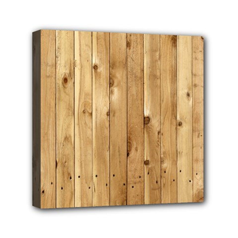 Light Wood Fence Mini Canvas 6  X 6