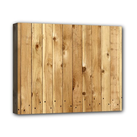 Light Wood Fence Canvas 10  X 8