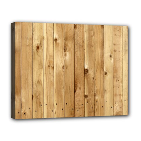 Light Wood Fence Canvas 14  X 11