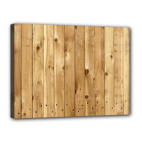 Light Wood Fence Canvas 16  X 12