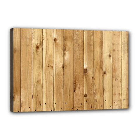 Light Wood Fence Canvas 18  X 12