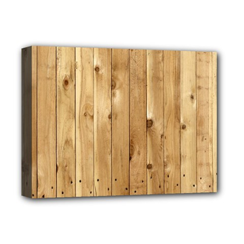 LIGHT WOOD FENCE Deluxe Canvas 16  x 12