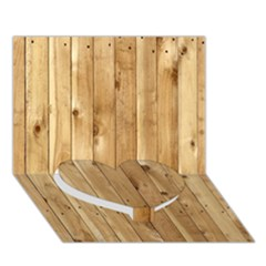 LIGHT WOOD FENCE Heart Bottom 3D Greeting Card (7x5)