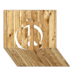 LIGHT WOOD FENCE Peace Sign 3D Greeting Card (7x5)