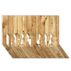 LIGHT WOOD FENCE BEST SIS 3D Greeting Card (8x4)