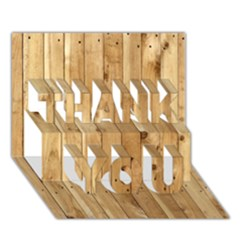 Light Wood Fence Thank You 3d Greeting Card (7x5)