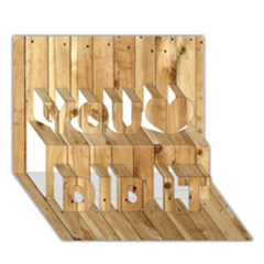 Light Wood Fence You Did It 3d Greeting Card (7x5)