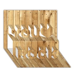Light Wood Fence You Rock 3d Greeting Card (7x5)