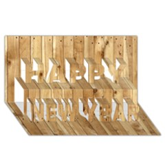 LIGHT WOOD FENCE Happy New Year 3D Greeting Card (8x4)
