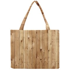 Light Wood Fence Tiny Tote Bags