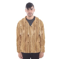 LIGHT WOOD FENCE Hooded Wind Breaker (Men)