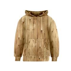 Light Wood Fence Kid s Pullover Hoodies