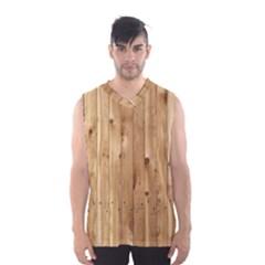 Light Wood Fence Men s Basketball Tank Top
