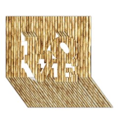 LIGHT BEIGE BAMBOO LOVE 3D Greeting Card (7x5)