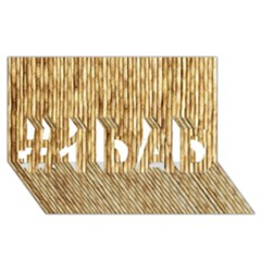 LIGHT BEIGE BAMBOO #1 DAD 3D Greeting Card (8x4)