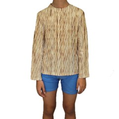 Light Beige Bamboo Kid s Long Sleeve Swimwear