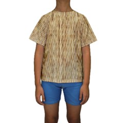 LIGHT BEIGE BAMBOO Kid s Short Sleeve Swimwear
