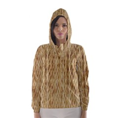 LIGHT BEIGE BAMBOO Hooded Wind Breaker (Women)