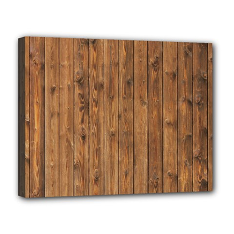Knotty Wood Canvas 14  X 11