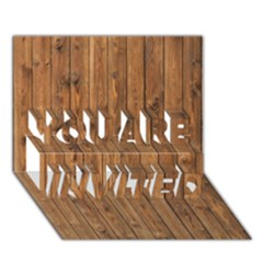 KNOTTY WOOD YOU ARE INVITED 3D Greeting Card (7x5)