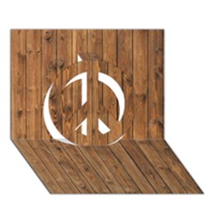 KNOTTY WOOD Peace Sign 3D Greeting Card (7x5)