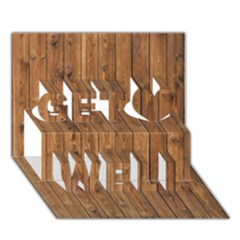 KNOTTY WOOD Get Well 3D Greeting Card (7x5)