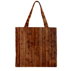 Knotty Wood Zipper Grocery Tote Bags